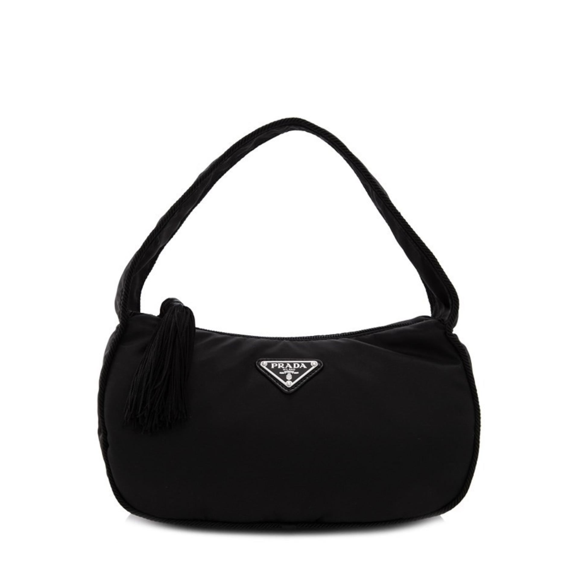 5cc2b04c7283 Prada Tessuto Passama Handbag (Nero) # 1BA8702A6SF0002