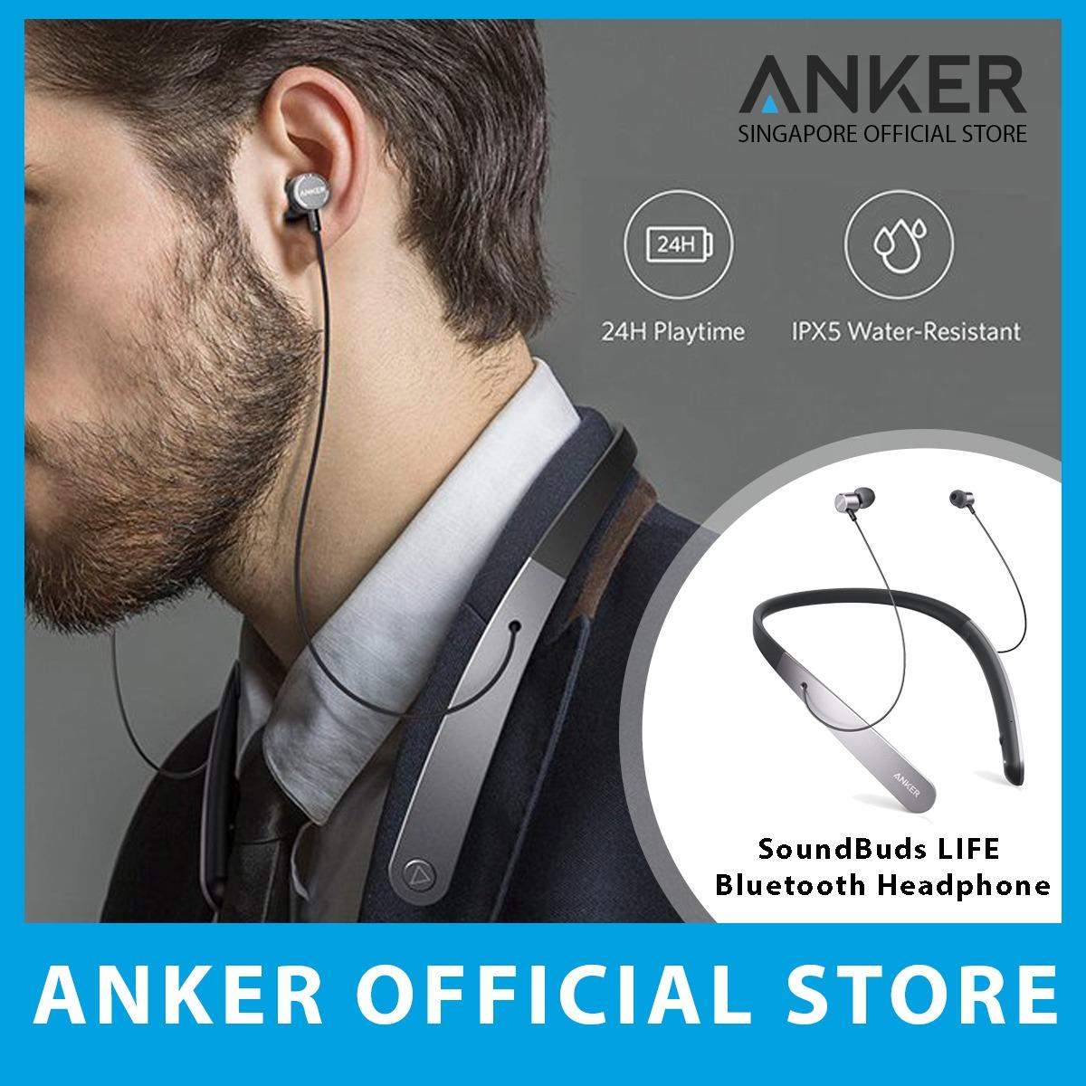 Sale Anker Soundbuds Life Wireless Neckband Headphones Anker Original