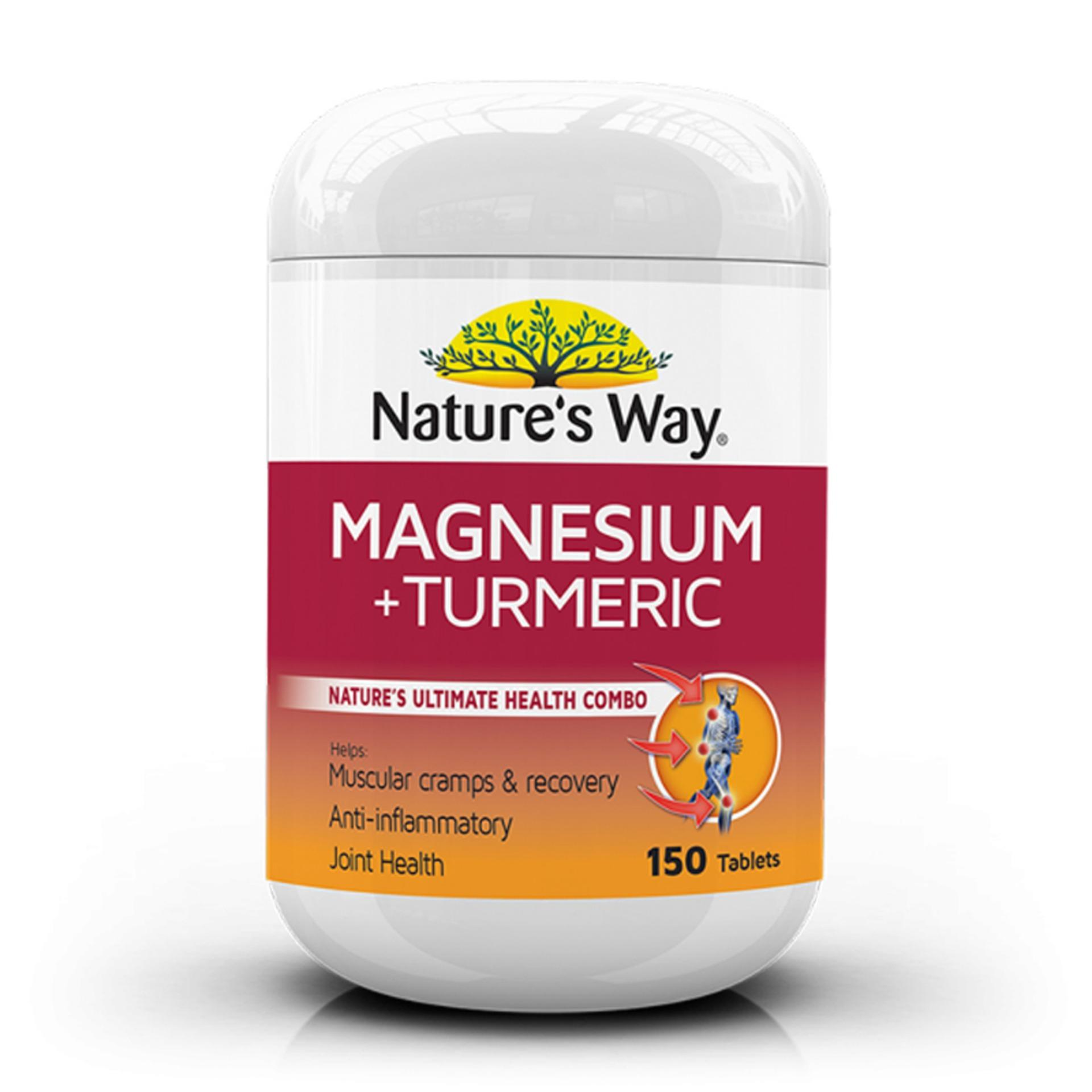 Buy Natures Way Bone Joint Support Supergreen Food 150 Tablets Sgf Magnesium Turmeric 150s