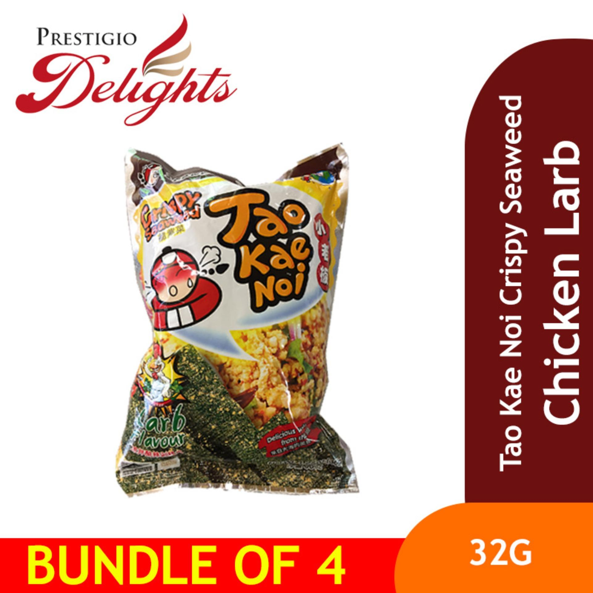 Tao Kae Noi Crispy Seaweed - 32g Chicken Larb Bundle Of 4 By Prestigio Delights.