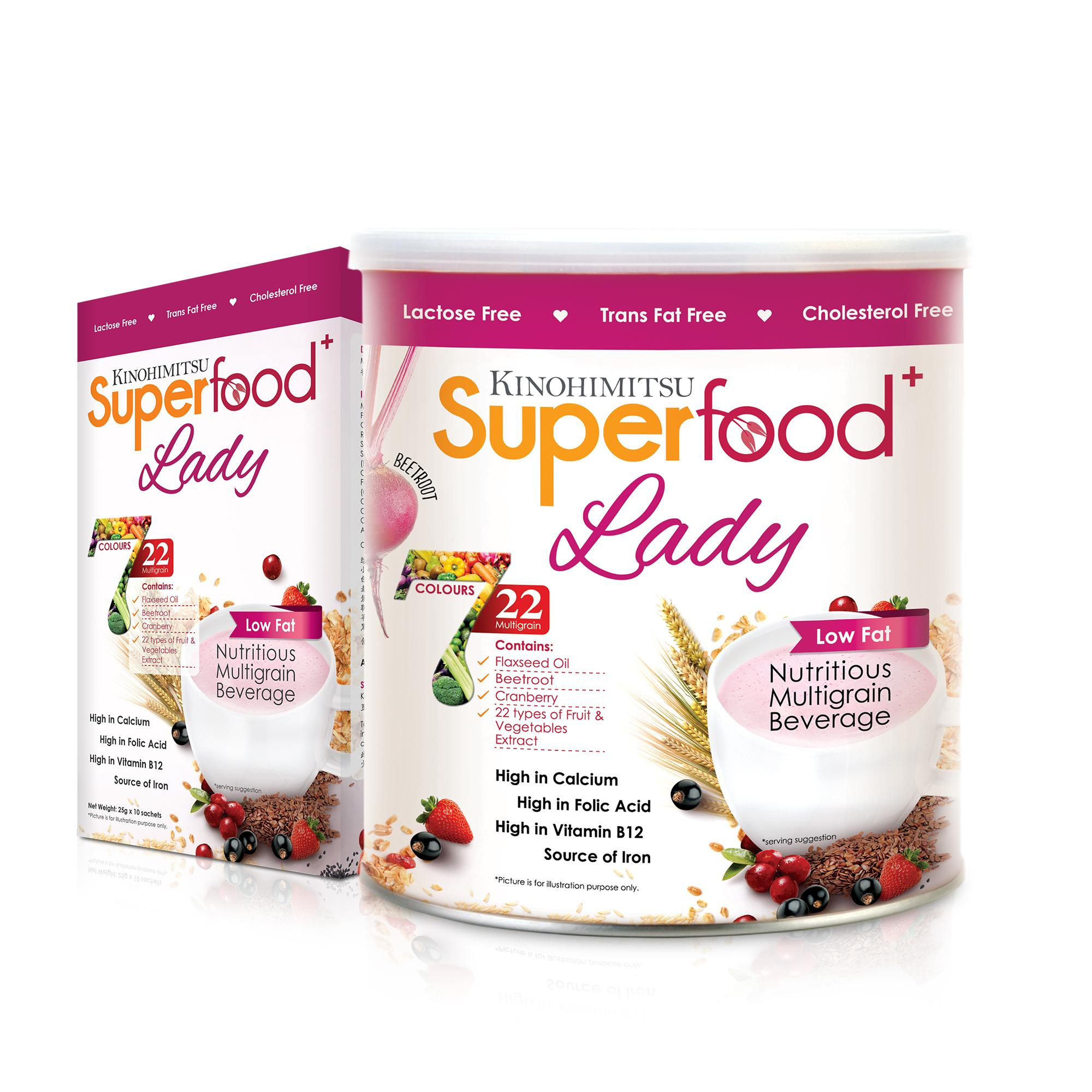 Kinohimitsu Superfood+ Lady 500g + 10 Sachets