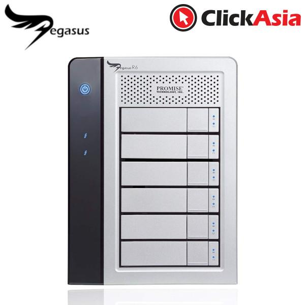 Promise Pegasus 1 R6 6-Bay Raid Direct-Attached Storage By Clickasia.