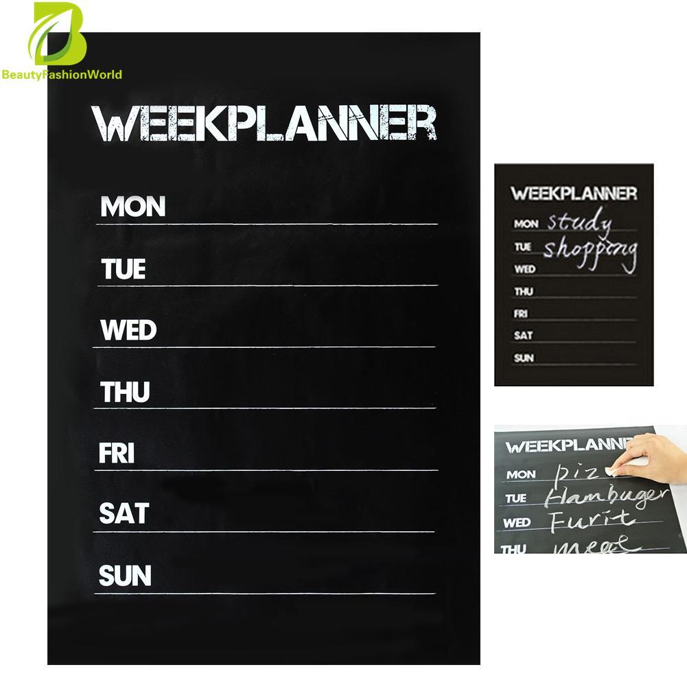HOT Weekly Plan Planner Memo Blackboard Vinyl Wall Sticker Decal Removable