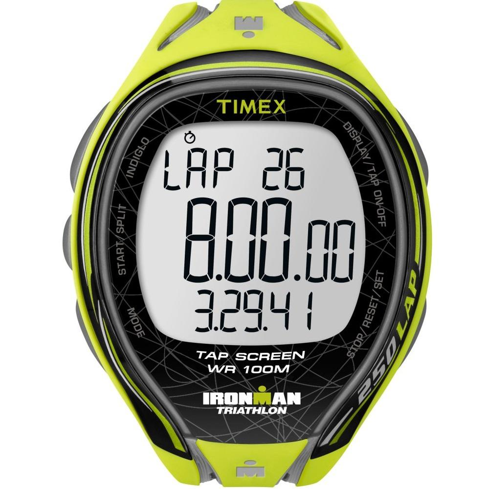 Promo Timex Ironman® Sleek 250 Lap Full Size Neon Yellow Resin Strap T5K589