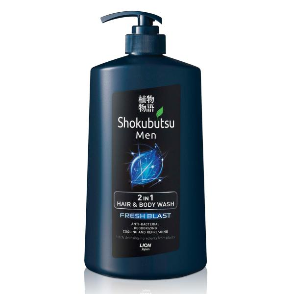 Buy Shokubutsu Men 2-in-1 Hair & Body Wash (Fresh Blast), 850ml Singapore
