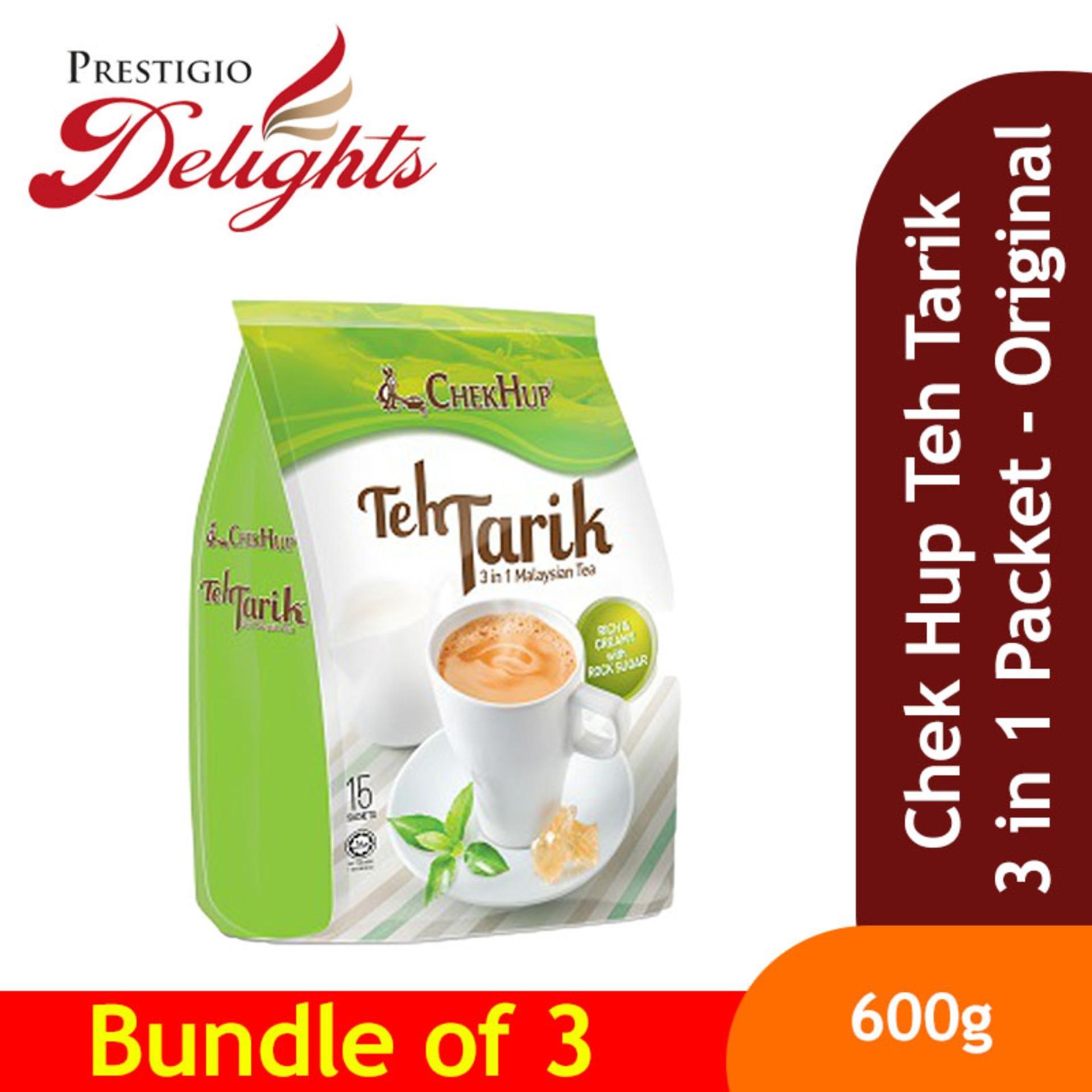 Chek Hup Teh Tarik 3 In 1 Packet - Original Bundle Of 3 By Prestigio Delights.