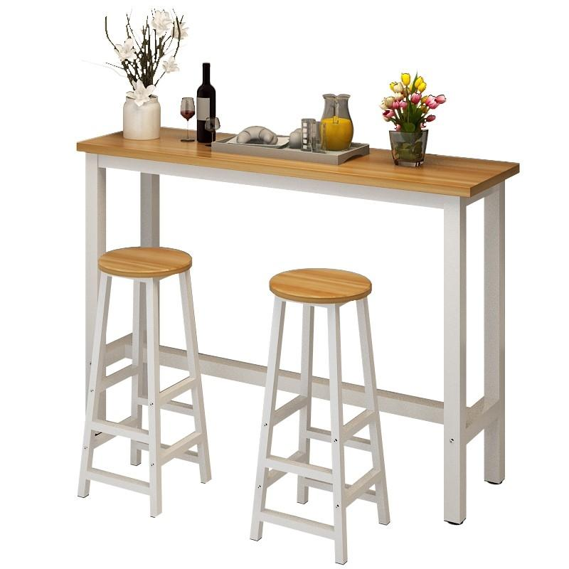 JIJI (Longines Bar Table Set - 1 Table + 2 Stools) (Free Installation) / Bar Table / Bar Stool / High Table / Long Table / 12 Month Warranty / (SG)