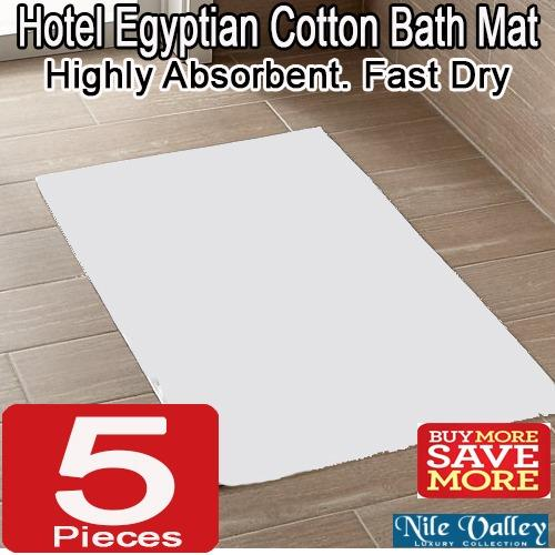 Price Comparisons Nile Valley Hotel Egyptian Cotton Bath Mat Highly Absorbent Fast Dry