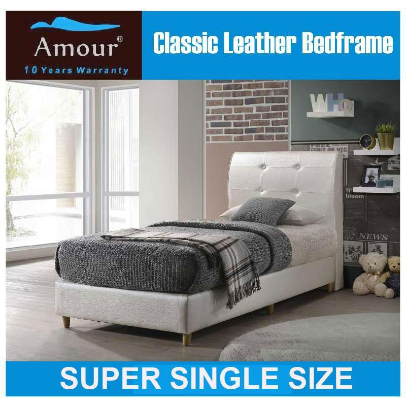 Amour Brand Super Single Size Classic PU leather bed Frame /Free delivery /Best in Lazada
