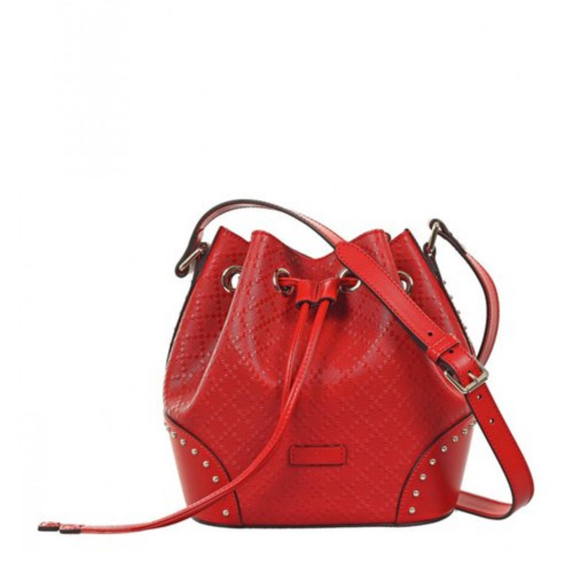 0feeb41e5569 Gucci Bright Diamante Leather Bucket Bag (Red) # 354229AIZ7G6523