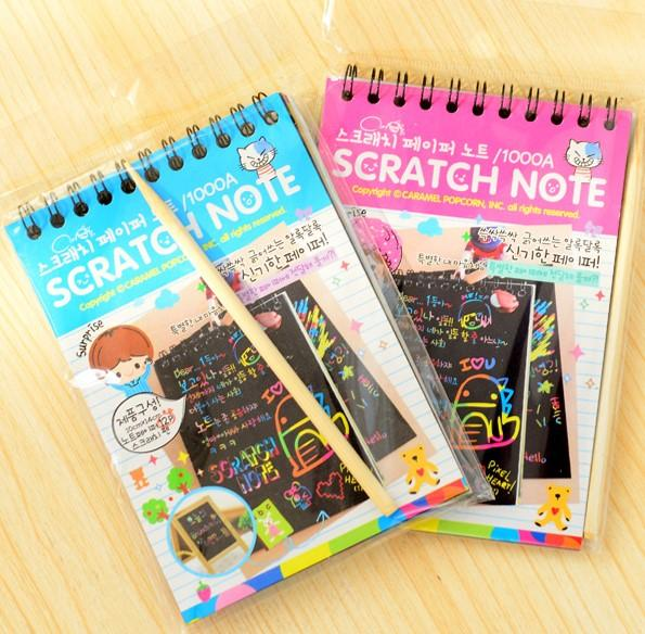 5 Pcs Bulk Buy Creative Scratch Pad Book Goodie Bag Toys Stationery Gifts Children Birthday Party