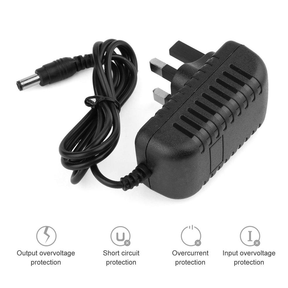 QNSTAR DC 12V 2A AC Power Supply Transformer Adapter Converter Wall Charge Adapter  UKblack