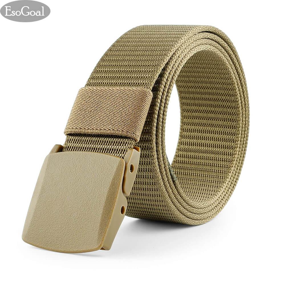 Esogoal Nylon Canvas Men Belt Breathable Military Tactical Men Waist Belt With Plastic Buckle(black) - Intl By Esogoal.