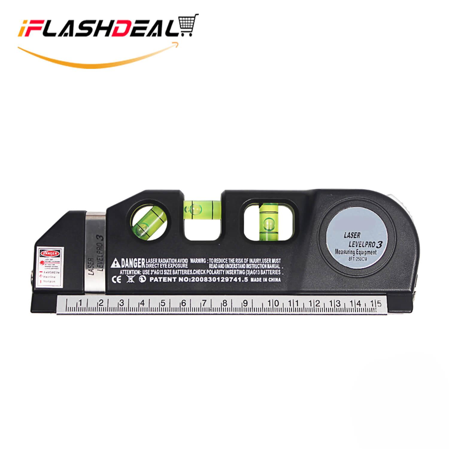 Iflashdeal Multipurpose Level Measure Line 8ft+ Measurement Tape Ruler Adjusted Standard And Metric Rulers By Iflashdeal.