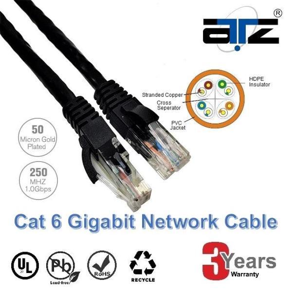 ATZ 2m CAT 6 Gigabit Ethernet Lan Network Patchcord Cable-2M Network Cable