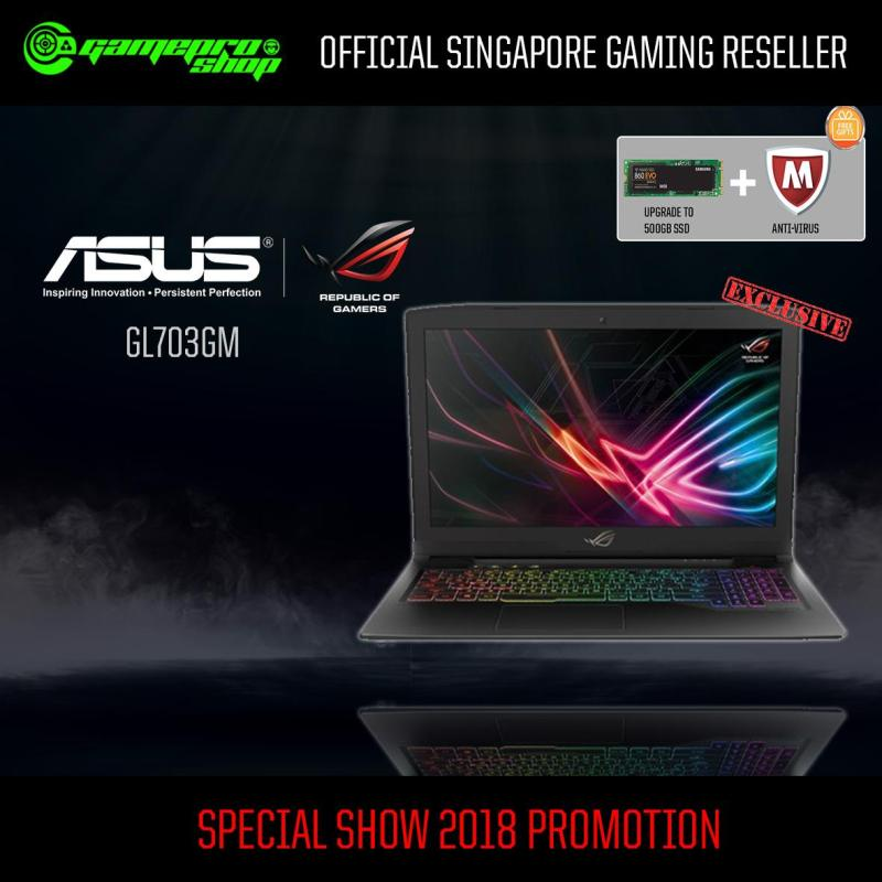 8th Gen ASUS GL703GM-E5100T EXCLUSIVE(8th-Gen GTX1060 6GB GDDR5) 17.3 with 144Hz Gaming Laptop *CEE SHOW*