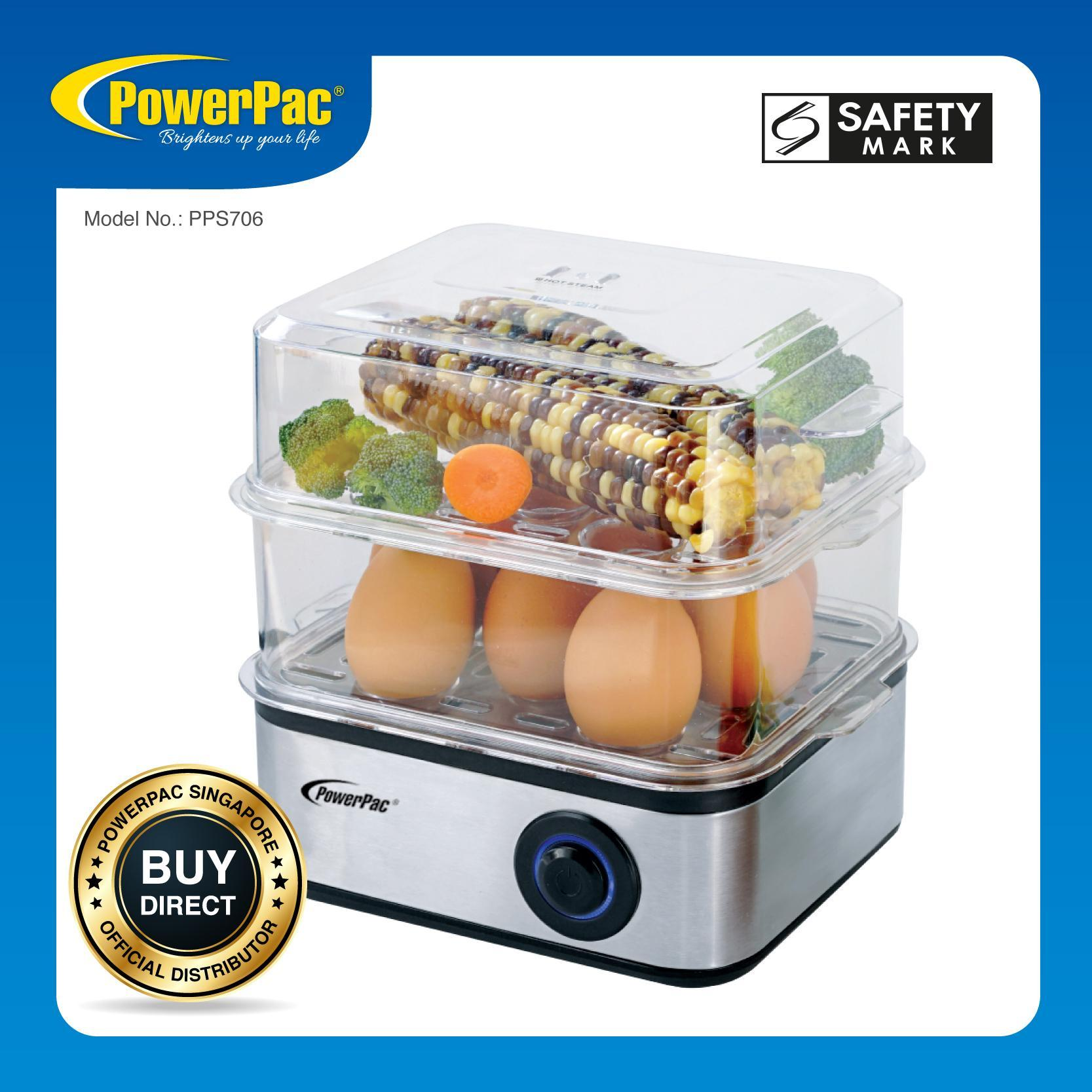 Powerpac 2.5l Multi-Functional 2-Tier Steamer (pps706) By Powerpac.