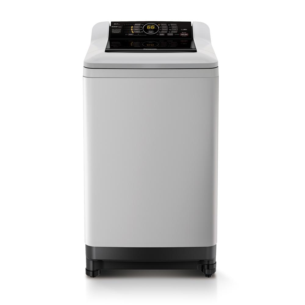 Panasonic Na F80A4Hrq 8Kg Top Load Washer Light Grey 1 Year Warranty By Panasonic Online