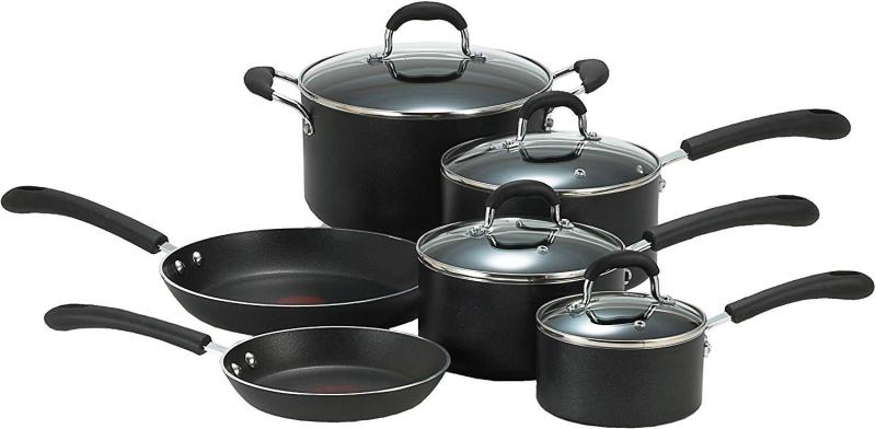 FOR ALL COOKTOPS (include induction) (BNIB) Authentic T-fal Professional Total Nonstick Thermo-Spot Heat Indicator Cookware Set, 10-Piece, Black Singapore