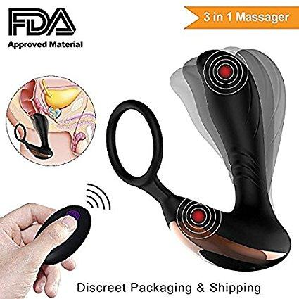 Premium Quality Prevent Prostate Cancer Starting From This Male Prostate Massager With Remote (usb Charger) Fda Approved Silicone + Abs Water Resistant By Gifts And Novelties.