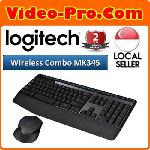 Logitech MK345 Wireless Desktop Combo with Full-Size Keyboard and Right-Handed Mous