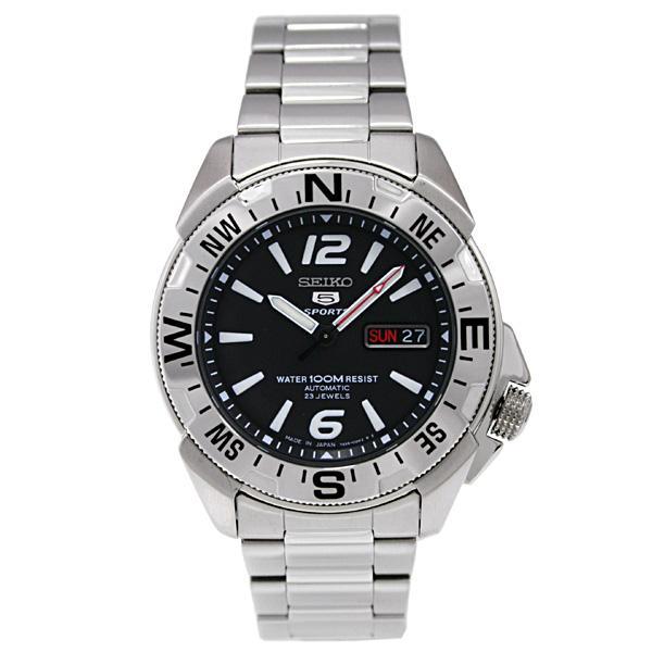 Seiko 5 SNZE89J1 SNZE89J SNZE89 Sports  Automatic 23 Jewels Black Dial Stainless Steel Men's Watch