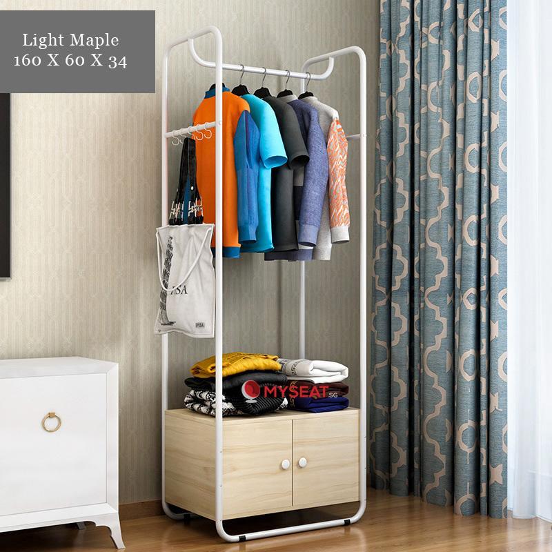Minimalist Clothing Rack with Storage