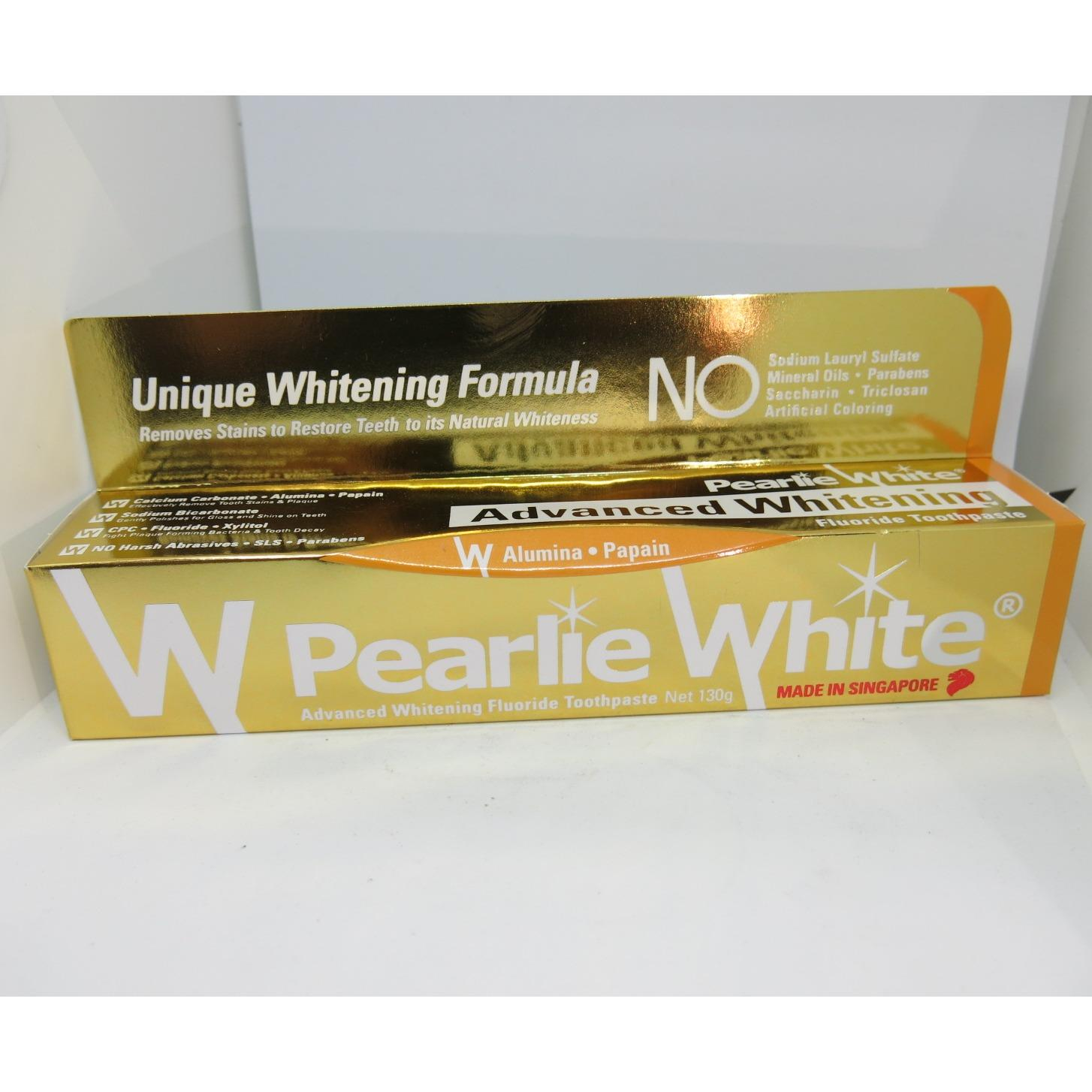 Pearlie White Advanced Whitening Fluoride Toothpaste 130 Grams X 3 Tubes Shop