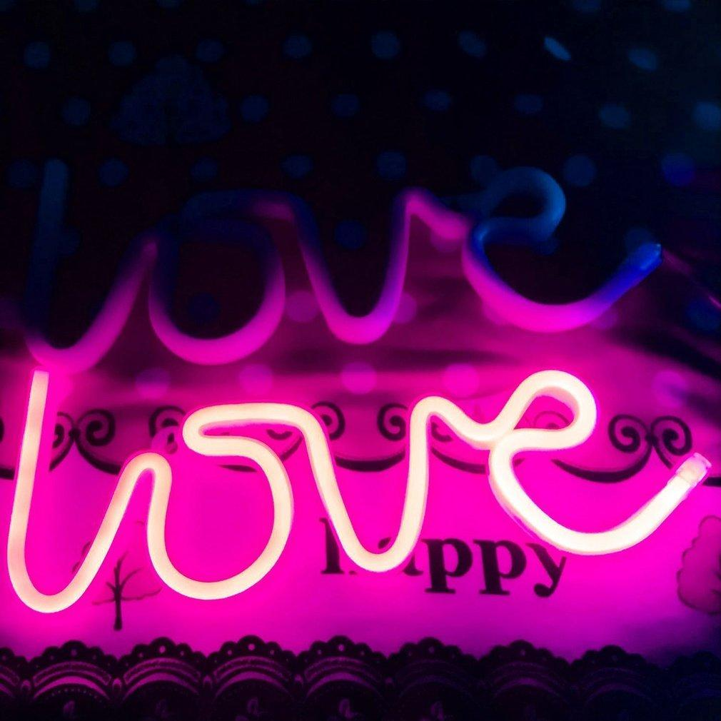 TOP Romantic Love LED Night Light Wall Hanging Neon Light Party Decoration Lamp Singapore