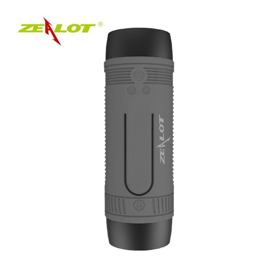 ZEALOT S1 Mini Bluetooth Speaker Portable Wireless Music Surround Support TF Card Grey - intl