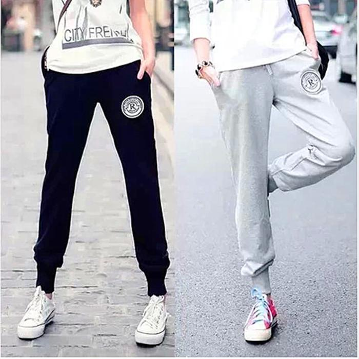 2018 Spring Summer Leisure Harem Pants Female Loose Straight Skinny Pants Slim Fit Slimming Running Sports Pants Length Pants By Taobao Collection.