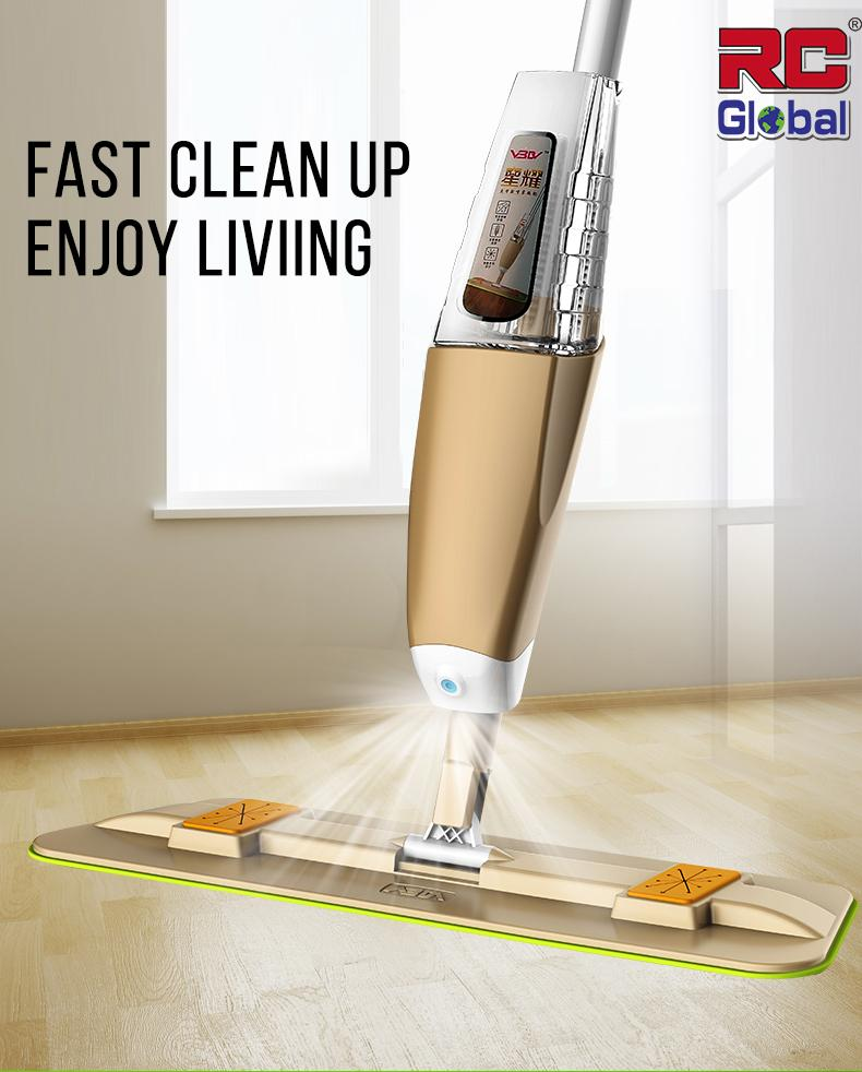 Rc-Global 2018 Spray Mop Easy Magic Mop With Water Sprayer (喷水式奇异拖把) By Rc-Global.