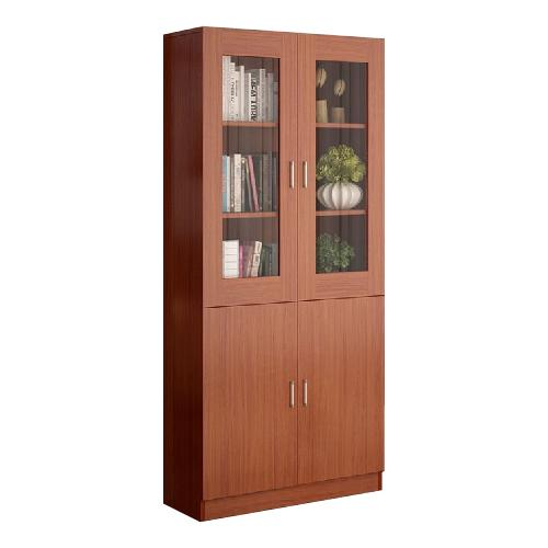 JIJI Deluxe Bookshelves w Glass Cabinet (Free Installation) (Shelve Storage) Shelves / Bookcases / Bookshelf / Storage / Organizer /Furniture /Open Cabinet/ Free 12 Months Local Warranty (SG)