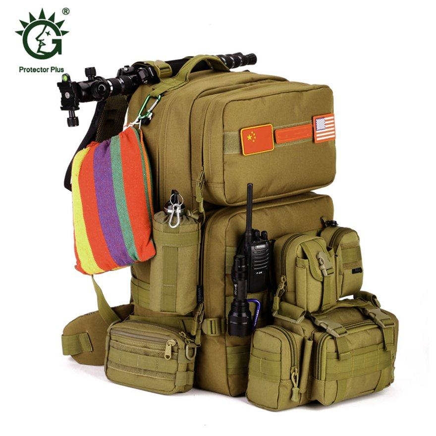 Anext 55l Large Military Tactical Backpack Army Molle Waterproof Outdoor Rucksack By Andnext.
