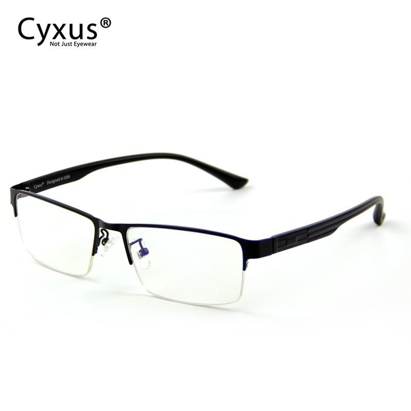 How To Get Cyxus Metal Semi Rimless Computer Gaming Glasses Block Blue Light Anti Eyestrain Reading Eyewear