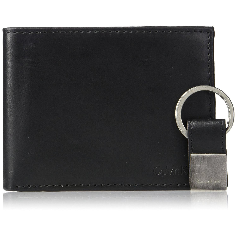 Calvin Klein Men S Leather Bookfold Wallet With Key Fob Promo Code