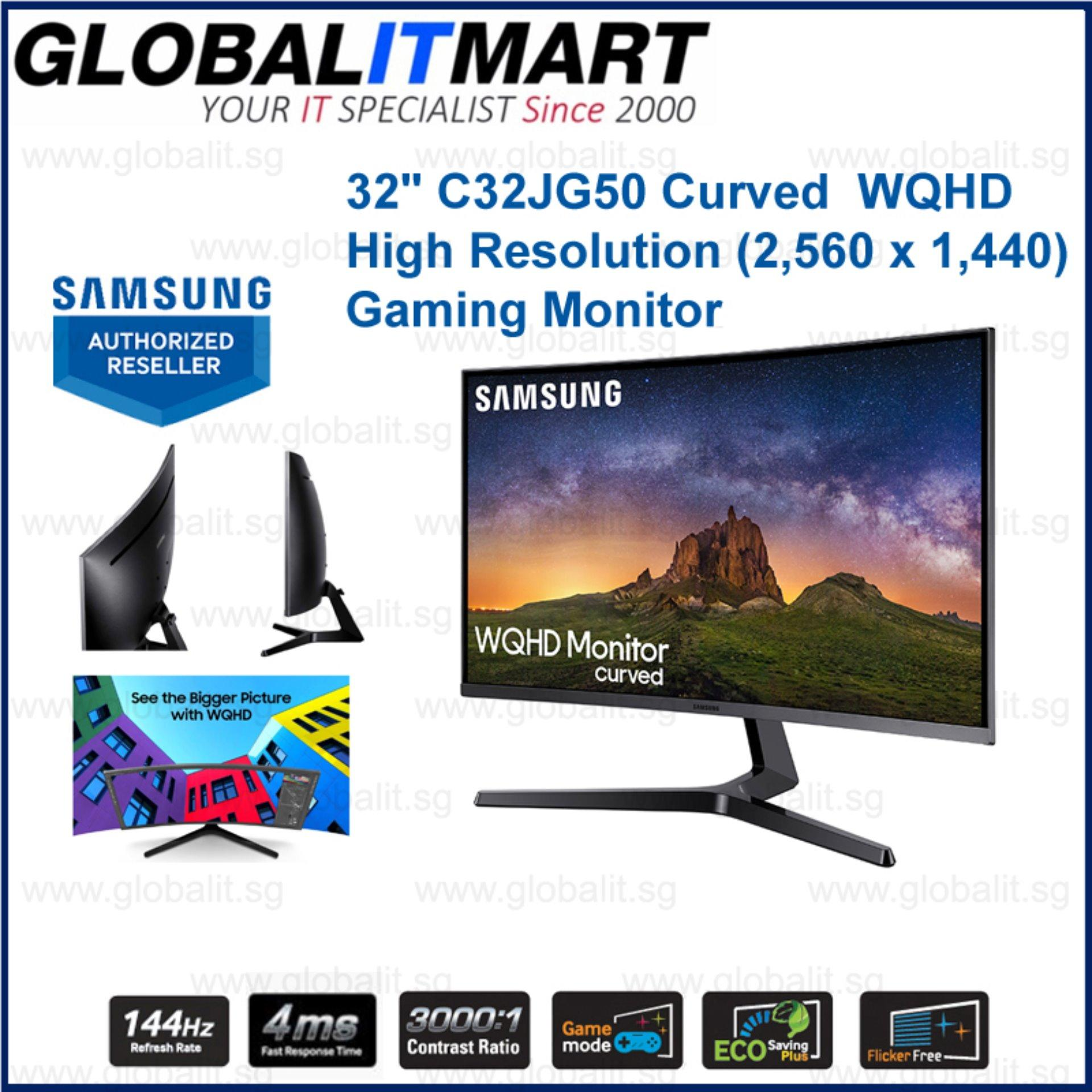 Samsung 32 Inch C32JG50 Curved High Resolution WQHD (2,560 x 1,440) 144Hz Gaming Monitor