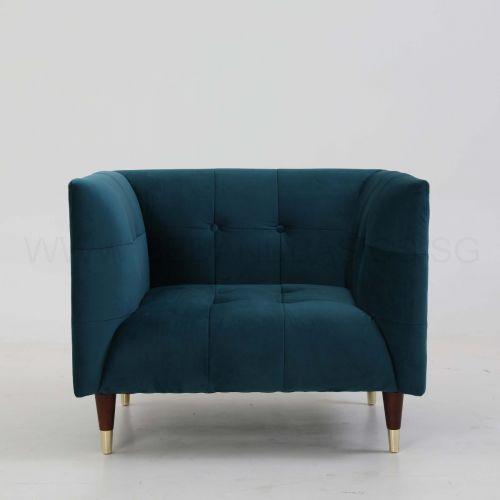 Frank Sofa (Turquoise Velvet)