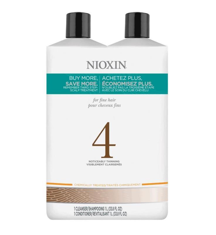 Buy NIOXIN NO.4 CLEANSER + CONDITIONER PROMOTION SET 2 X 1L Singapore