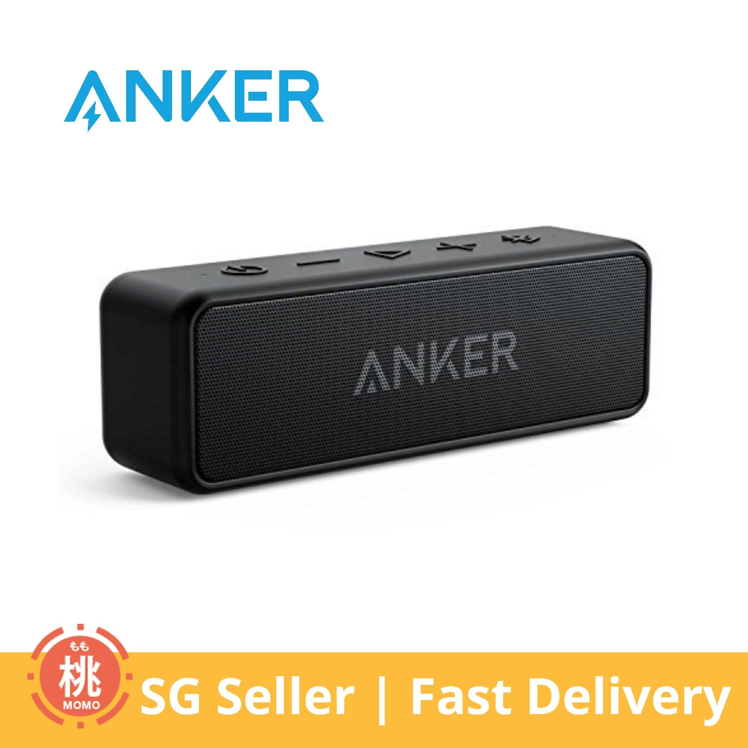 Anker Soundcore 2 Portable Bluetooth Speaker With Superior Stereo Sound, Exclusive Bassup, 12-Watts, Ipx5 Water-Resistant, 24-Hour Playtime By Momo Accessories.