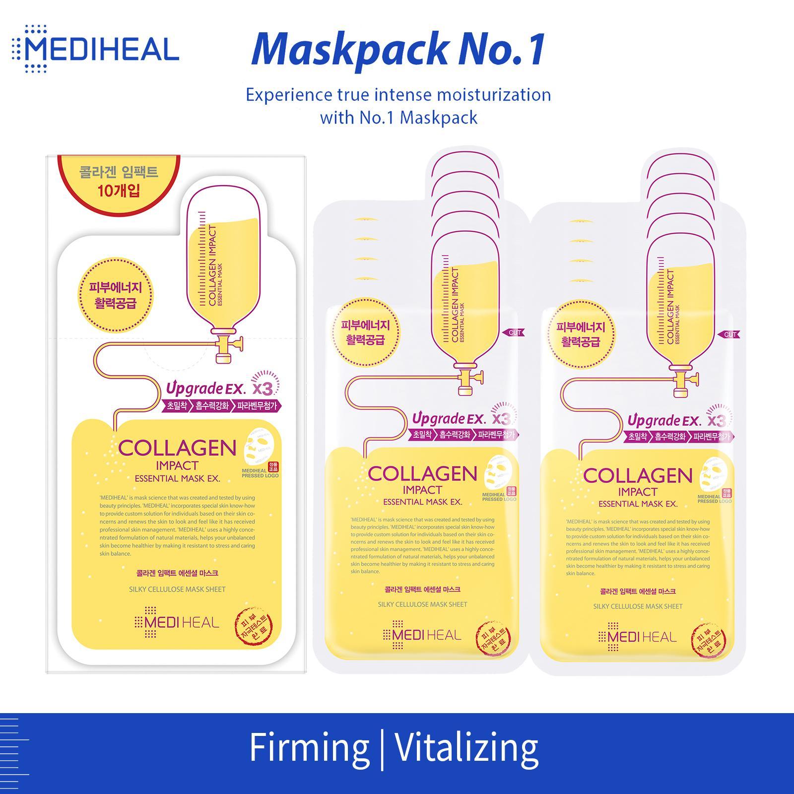 Buy Mediheal Facemasks Packs Gel Lazada Collagen Impact Essential Mask Box 24ml X 10pc