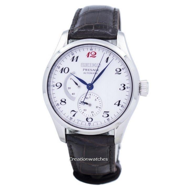 Sale Luxury Watch Seiko Presage Automatic Power Reserve Men S Black Leather Strap Watch Spb059J1 Online On Singapore