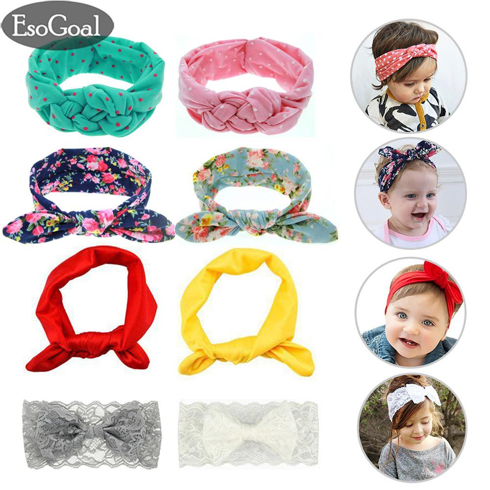 Esogoal 8pcs Baby Hairband Girl Elastic Knotted Hair Accessories Headbands For Newborn,toddler And Childrens(4 Kinds,each 2pcs) By Esogoal.