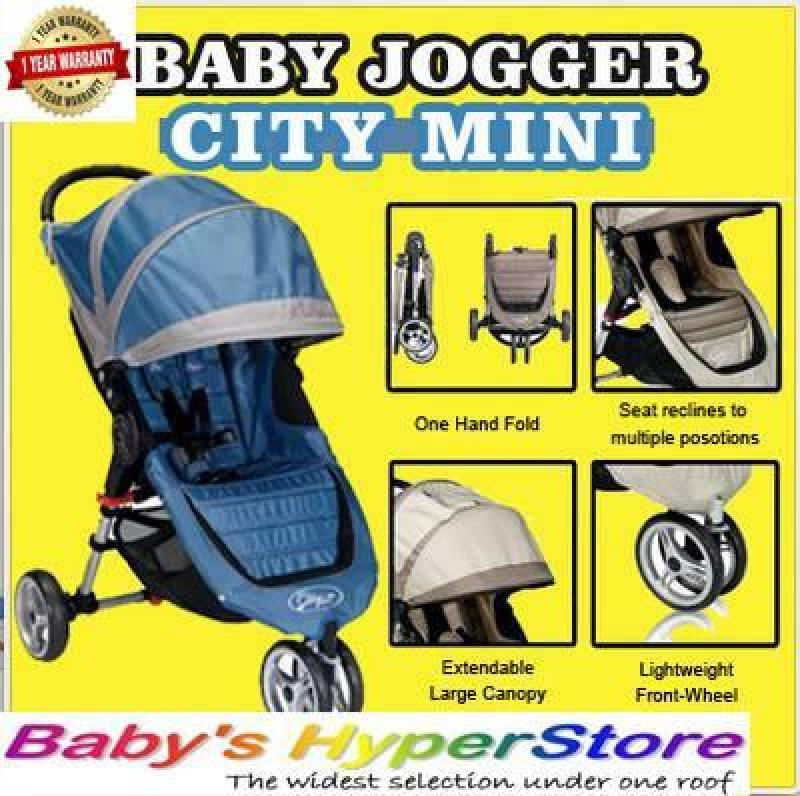 Baby Jogger City Mini Stroller BLUE GREY COLOUR!  - Suitable from birth to 25kg - LOCAL seller warranty 1 YEAR Singapore