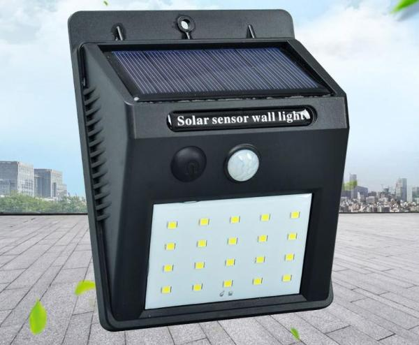 Solar energy induction wall lamp 20LED human body induction lamp outdoor courtyard lamp -intl