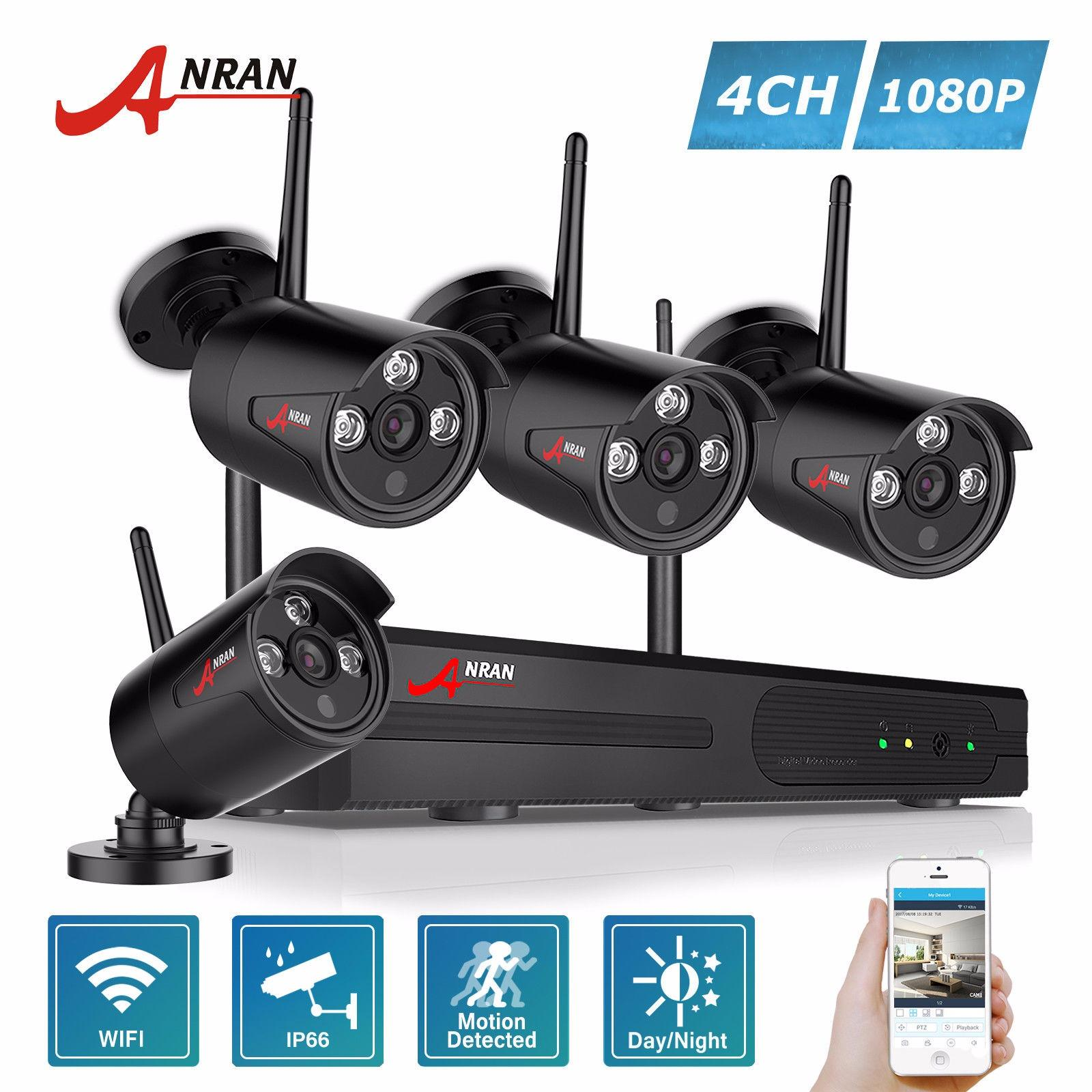 Who Sells Anran 4 Channel Hd 1080P Wireless Network Ip Security Camera System 2 Megapixel Wireless Indoor Outdoor Ir Bullet Ip Cameras Cheap