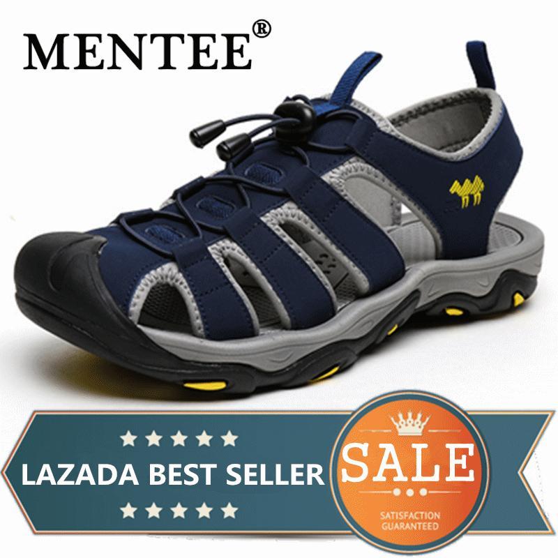 7539894da0a567 MENTEE Men s Beach Sandals Men Causal Shoes Super Fiber Fashion Outdoor  Waterproof Sandals