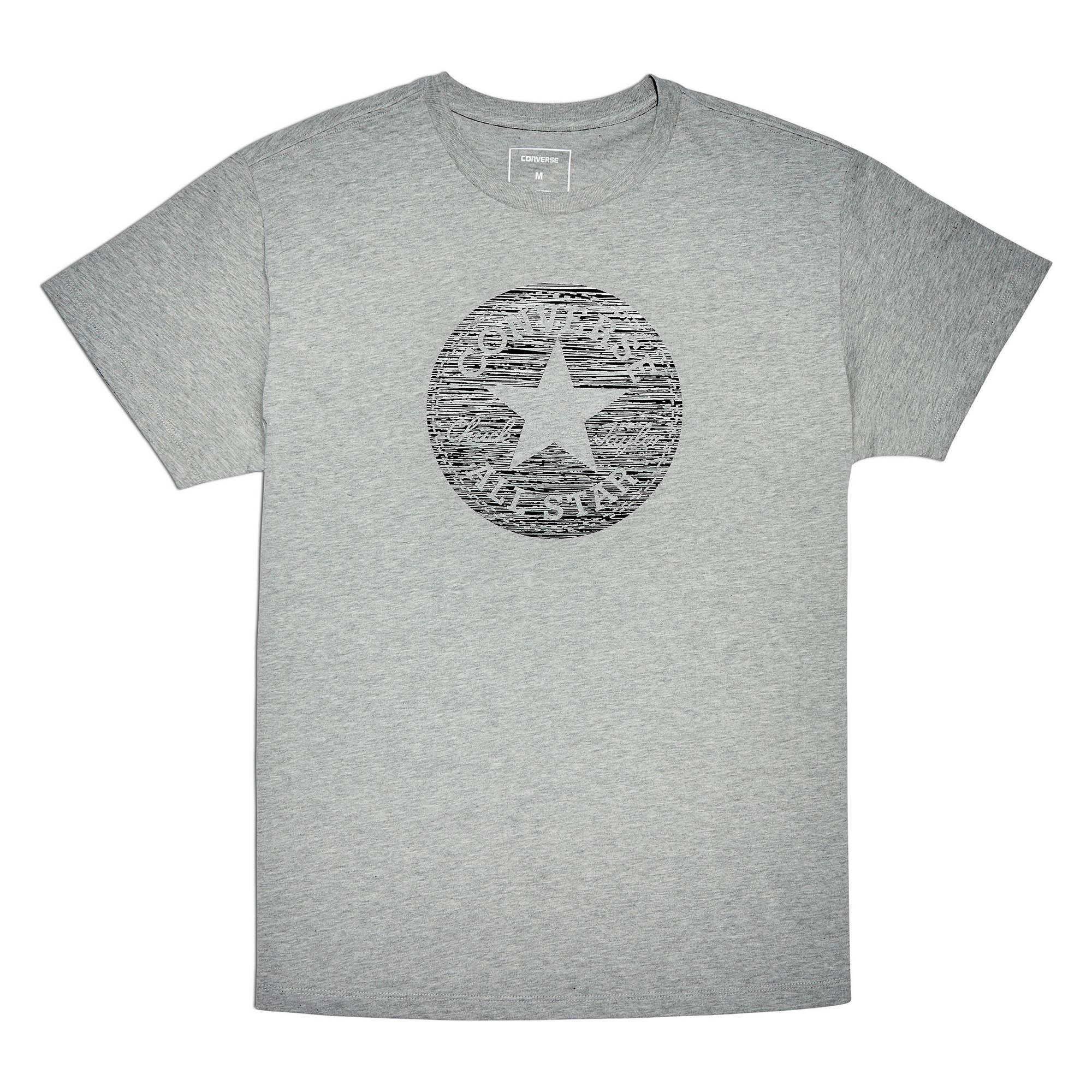 42d2f9ff5769  SALE  CONVERSE PRECIOUS METAL CHUCK PATCH EASY CREW TEE - VINTAGE GREY  HEATHER -