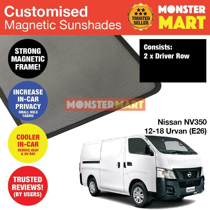 Sale Nissan Nv350 2012 2018 Urvan E26 Customised Van Window Magnetic Sunshades 2 Pieces Singapore Cheap
