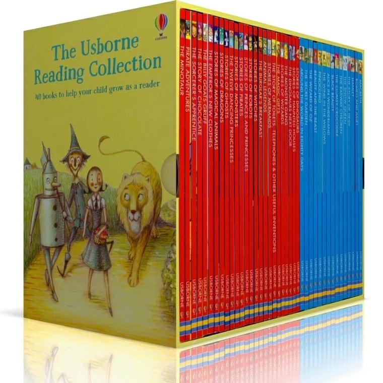 Usborne: Young Reading Collection My third reading library box set (40 books) c1 c2